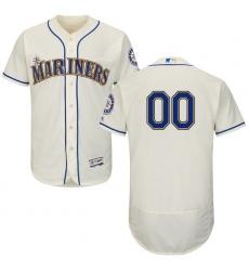 Men's Seattle Mariners Majestic Alternate Cream Flex Base Authentic Collection Custom Jersey