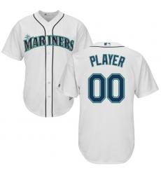 Men's Seattle Mariners Majestic White Cool Base Custom Jersey