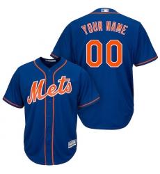 Men's New York Mets Majestic Royal Cool Base Custom Jersey