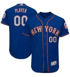 Men's New York Mets Majestic Royal/Gray 2017 Alternate Authentic Collection Flex Base Custom Jersey