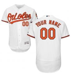Men's Baltimore Orioles Majestic Home White Flex Base Authentic Collection Custom Jersey