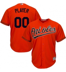 Men's Baltimore Orioles Majestic Orange Cool Base Custom Jersey