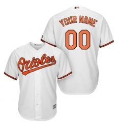 Men's Baltimore Orioles Majestic White Home Cool Base Custom Jersey