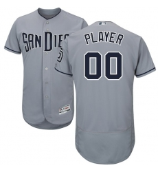 Men's San Diego Padres Majestic Gray Road Flex Base Authentic Collection Custom Jersey