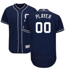 Men's San Diego Padres Majestic Navy Alternate Flex Base Authentic Collection Custom Jersey