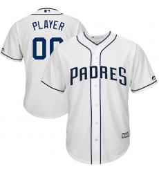 Men's San Diego Padres Majestic White 2017 Cool Base Custom Baseball Jersey