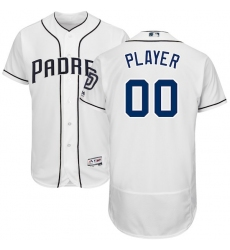 Men's San Diego Padres Majestic White Home Flex Base Authentic Collection Custom Jersey
