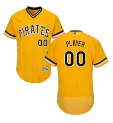 Men's Pittsburgh Pirates Majestic Alternate Gold Flex Base Authentic Collection Custom Jersey