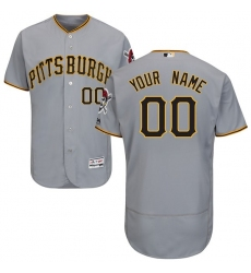 Men's Pittsburgh Pirates Majestic Road Gray Flex Base Authentic Collection Custom Jersey