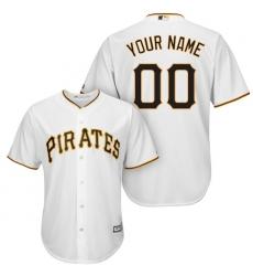 Men's Pittsburgh Pirates Majestic White Cool Base Custom Jersey
