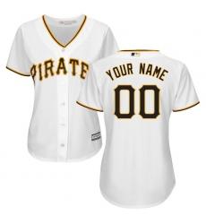 Women's Pittsburgh Pirates Majestic White Home Cool Base Custom Jersey