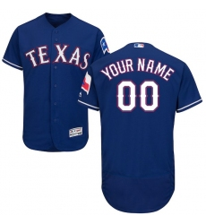 Men's Texas Rangers Majestic Alternate Royal Flex Base Authentic Collection Custom Jersey