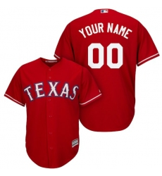 Men's Texas Rangers Majestic Red Cool Base Custom Jersey