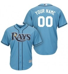 Men's Tampa Bay Rays Majestic Light Blue Cool Base Custom Jersey