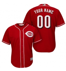 Men's Cincinnati Reds Majestic Red Cool Base Custom Jersey