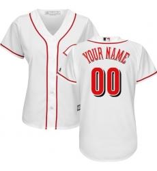Women's Cincinnati Reds Majestic White Home Cool Base Custom Jersey