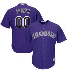 Men's Colorado Rockies Majestic Purple Alternate Cool Base Custom Jersey