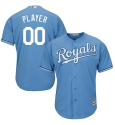 Men's Kansas City Royals Majestic Light Blue Cool Base Custom Jersey
