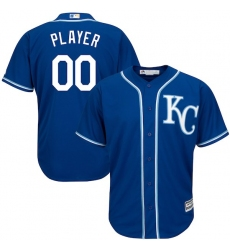 Men's Kansas City Royals Majestic Royal Cool Base Custom Jersey