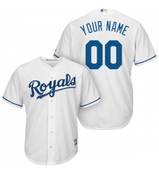 Men's Kansas City Royals Majestic White Home Cool Base Custom Jersey