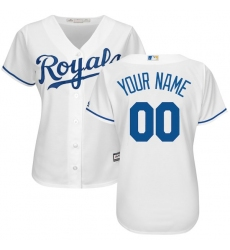 Women's Kansas City Royals Majestic White Home Cool Base Custom Jersey