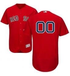 Men's Boston Red Sox Majestic Alternate Scarlet Flex Base Authentic Collection Custom Jersey