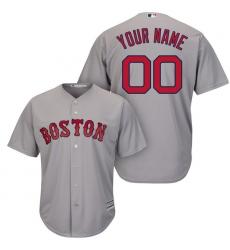 Men's Boston Red Sox Majestic Gray Cool Base Custom Jersey