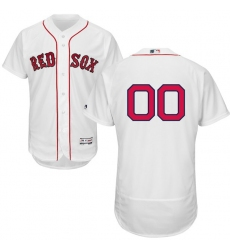 Men's Boston Red Sox Majestic Home White Flex Base Authentic Collection Custom Jersey