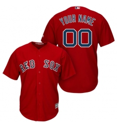 Men's Boston Red Sox Majestic Red Cool Base Custom Jersey