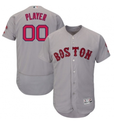 Men's Boston Red Sox Majestic Road Gray Flex Base Authentic Collection Custom Jersey