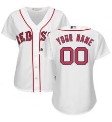 Women's Boston Red Sox Majestic White Home Cool Base Custom Jersey