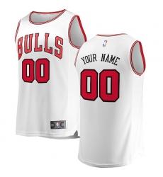 Men's Chicago Bulls Fanatics Branded White Fast Break Custom Replica Jersey - Association Edition