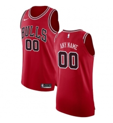 Men's Chicago Bulls Nike Red Authentic Custom Jersey - Icon Edition