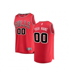 Youth Chicago Bulls Fanatics Branded Red Fast Break Custom Replica Jersey - Icon Edition