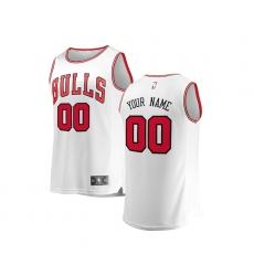 Youth Chicago Bulls Fanatics Branded White Fast Break Custom Replica Jersey - Association Edition