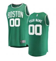 Men's Boston Celtics Fanatics Branded Kelly Green Fast Break Custom Replica Jersey - Icon Edition