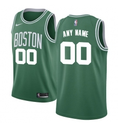 Men's Boston Celtics Nike Green Swingman Custom Jersey - Icon Edition