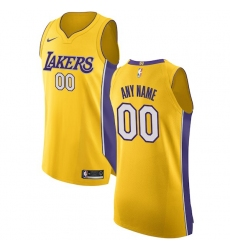 Men's Los Angeles Lakers Nike Gold Authentic Custom Jersey - Icon Edition