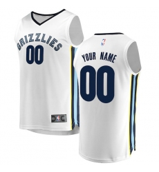 Men's Memphis Grizzlies Fanatics Branded White Fast Break Custom Replica Jersey - Association Edition