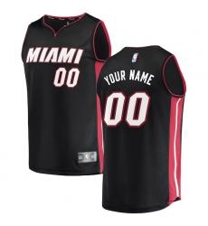 Men's Miami Heat Fanatics Branded Black Fast Break Custom Replica Jersey - Icon Edition
