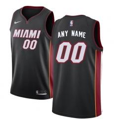 Men's Miami Heat Nike Black Swingman Custom Jersey - Icon Edition