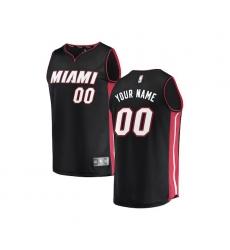 Youth Miami Heat Fanatics Branded Black Fast Break Custom Replica Jersey - Icon Edition