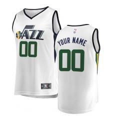 Men's Utah Jazz Fanatics Branded White Fast Break Custom Replica Jersey - Association Edition