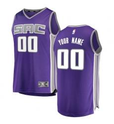 Men's Sacramento Kings Fanatics Branded Purple Fast Break Custom Replica Jersey - Icon Edition