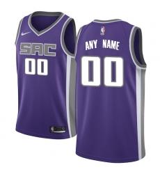 Men's Sacramento Kings Nike Purple Swingman Custom Jersey - Icon Edition