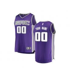 Youth Sacramento Kings Fanatics Branded Purple Fast Break Custom Replica Jersey - Icon Edition