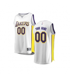 Youth Los Angeles Lakers Fanatics Branded White 2017/18 Fast Break Custom Replica Jersey - Association Edition