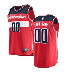 Men's Washington Wizards Fanatics Branded Red Fast Break Custom Replica Jersey - Icon Edition