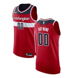 Men's Washington Wizards Nike Red Authentic Custom Jersey - Icon Edition