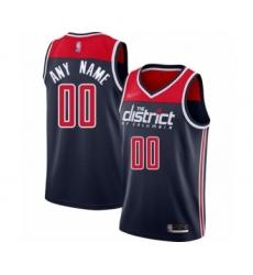 Women's Washington Wizards Customized Swingman Navy Blue Finished Basketball Jersey - Statement Edition